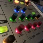 EQ controls on the Roland M400 Digital Mixing Desk
