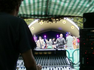 John's view from the Eden Festival main stage sound desk