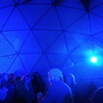 Geodome lit discreetly with low power LED lights (inside)